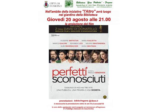 Proiezione film: Perfetti sconosciuti, di Paolo Genovese