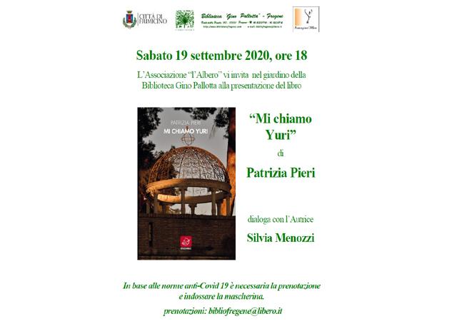 """Presentazione del libro """"MI CHIAMO YURI""""di PATRIZIA PIERI"""