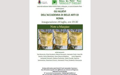 24 luglio, ore 19,30 INAUGURAZIONE MOSTRA DELL'ACCADEMIA DI BELLE ARTI DI ROMA curata da SANDRO POLO