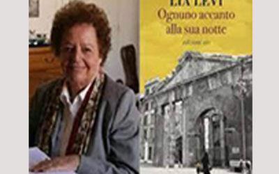 """12 agosto, ore 18,30, Lia Levi presenta """"Ognuno accanto alla sua notte"""". Dialoga con l'autrice Silvia Menozzi"""